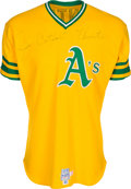 "Baseball Collectibles:Uniforms, 1974 Jim ""Catfish"" Hunter Signed Game Worn Oakland A's Jersey - Cy Young Award & World Series Championship Season...."
