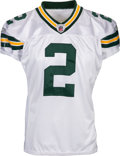 Football Collectibles:Uniforms, 2008 Mason Crosby Game Worn & Signed Green Bay Packers Jersey - Photo Matched to 3 FG 11/2 Game vs. Titans....