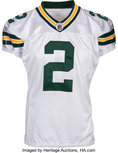 brand new d84a6 857c0 2008 Mason Crosby Game Worn & Signed Green Bay Packers ...
