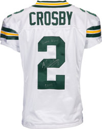 brand new 0b3eb e0a4f 2008 Mason Crosby Game Worn & Signed Green Bay Packers ...