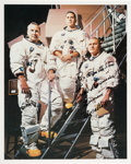Autographs:Celebrities, Frank Borman Signed Apollo 8 White Spacesuit Crew Color Photo. ...