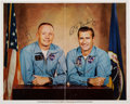 Autographs:Celebrities, Neil Armstrong and Richard Gordon Signed Color Photo. ...