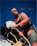 Autographs:Celebrities, John Glenn Signed Color Photo with PSA/DNA Authentication....