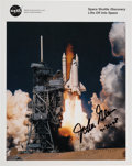 Autographs:Celebrities, John Glenn Signed Space Shuttle Discovery (STS-95) LaunchColor Photo....