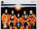 Autographs:Celebrities, John Glenn Signed Space Shuttle STS-95 Orange Spacesuit Crew ColorPhoto....