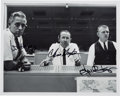 "Autographs:Celebrities, NASA Mission Control ""Red, White, and Blue"" Flight Directors(Hodge, Kraft, and Kranz) Signed Photo. ..."