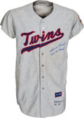 Baseball Collectibles:Uniforms, 1965 Harmon Killebrew Signed Game Worn Minnesota Twins Jersey, MEARS A7....