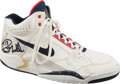 Basketball Collectibles:Others, 1992 Olympic Games Chris Mullin Game Worn & Signed Dream Team Single Sneaker - Fischer Collection....
