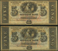 Obsoletes By State:Louisiana, New Orleans, LA- Citizens' Bank of Louisiana $5(2) 18__ Remainders. ... (Total: 2 notes)