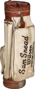 Golf Collectibles:Bags/Flagsticks/Clothing, 1950's Sam Snead Match Used Wilson Golf Bag from The Sam SneadCollection....