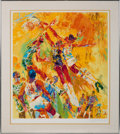 "Basketball Collectibles:Others, Circa 1976 ""Basketball Superstars"" Print Signed by LeRoy Neiman...."