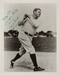 Baseball Collectibles:Balls, 1947 Babe Ruth Signed Photograph - Signed Seven Days Before Babe Ruth Day....
