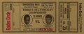Boxing Collectibles:Autographs, 1964 Cassius Clay vs. Sonny Liston Full Golden Circle Proof Ticket....