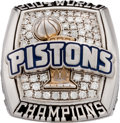 """Basketball Collectibles:Others, 2003-04 Detroit Pistons World Championship Ring with Box (""""BVersion). ..."""