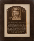 Baseball Collectibles:Others, 1962 Baseball Hall of Fame Induction Plaque Presented to JackieRobinson....