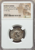 Ancients:Roman Imperial, Ancients: Tacitus (AD 275-276). BI antoninianus (5.10 gm). NGC MS ★5/5 - 5/5, Silvering....