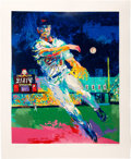 Baseball Collectibles:Others, 1995 Cal Ripken, Jr. & LeRoy Neiman Signed Serigraph....