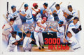 Baseball Collectibles:Others, 1997 3000-Hit Club Members Multi-Signed Poster....