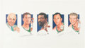 Basketball Collectibles:Others, 1990's Boston Celtics Legacy Multi-Signed Artist's ProofLithograph. ...