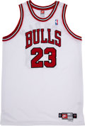 """Basketball Collectibles:Uniforms, Michael Jordan Signed """"Upper Deck Authenticated"""" Jersey. ..."""