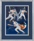 Baseball Collectibles:Others, Early 1990's Don Mattingly Signed Lithograph by B. Toohey....