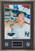 Baseball Collectibles:Others, 1992 Mickey Mantle Signed Original Artwork by Jolene Jessie. ...