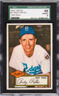 Baseball Cards:Singles (1950-1959), 1952 Topps Andy Pafko (Red Back) #1 SGC 88 NM/MT 8....