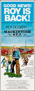"""Movie Posters:Western, Mackintosh and T.J. & Other Lot (Penland, 1975). Insert (14"""" X 36"""") and One Sheet (27"""" X 41""""). Western.. ... (Total: 2 Items)"""
