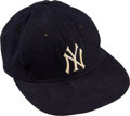 Baseball Collectibles:Uniforms, 1962 Mickey Mantle Game Worn & Signed New York Yankees Cap...