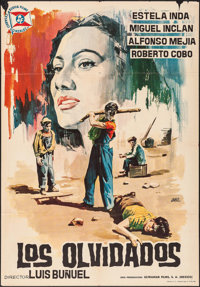 """Los Olvidados (Suevia Films, R-1964). Spanish One Sheet (27"""" X 38.5""""). Foreign. Also Known As: The Young and t..."""