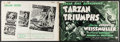 "Movie Posters:Adventure, Tarzan Triumphs & Other Lot (RKO, 1943). Uncut Pressbooks (2)(Multiple Pages, 18"" X 12"", 11"" X 17""). Adventure.. ... (Total: 2Items)"