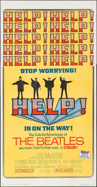 """Help! (United Artists, 1965). Three Sheet (41"""" X 79""""). Rock and Roll"""