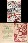 "Movie Posters:Adventure, Tarzan's Desert Mystery & Other Lot (RKO, 1943). UncutPressbooks (2) (Multiple Pages, 10.75"" X 15.75"" & 11"" X17.25""). Adve... (Total: 2 Items)"