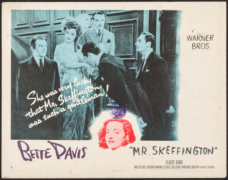 Image result for Mr. Skeffington 1944 lobby card