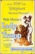 "Movie Posters:Animation, Lady and the Tramp (Buena Vista, 1955). One Sheet (27"" X 41"").Animation.. ..."