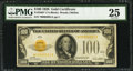 Small Size:Gold Certificates, Fr. 2405* $100 1928 Gold Certificate. PMG Very Fine 25.. ...