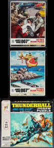 "Movie Posters:James Bond, The Spy Who Loved Me & Other Lot (HG Toys,1977) 150 PieceJigsaw Puzzles (2) (8"" X 10.25"" X 1.5"", 11.25"" X 10"" X 2"") No.491... (Total: 3 Items)"
