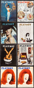 "Movie Posters:Sexploitation, Playboy Lot (Playboy Entertainment Group, 1955-1965). Magazines (8)(Multiple Pages, 8.25"" X 11.25""). Sexploitation.. ... (Total: 8Items)"
