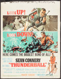 "Movie Posters:James Bond, Thunderball (United Artists, 1965). Trimmed Window Card (14"" X 18""). James Bond.. ..."