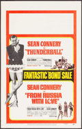 "Movie Posters:James Bond, Thunderball/From Russia with Love Combo (United Artists, R-1968).Window Card (14"" X 22""). James Bond.. ..."