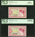 Military Payment Certificates:Series 641, Series 641 $1 PCGS Gem New 65PPQ;. Series 641 $1 PCGS Very ChoiceNew 64PPQ.. ... (Total: 2 notes)