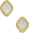 Estate Jewelry:Earrings, Colored Diamond, Diamond, Gold Earrings, Andreoli . ...