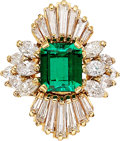 :Rings, Colombian Emerald, Diamond, Gold Ring . ...