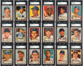 Baseball Cards:Sets, 1952 Topps Baseball Near Set (390/407) with Mickey Mantle. ...