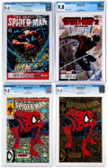 Modern Age (1980-Present):Superhero, Spider-Man CGC-Graded First Issues Group of 4 (Marvel, 1990-2016)CGC NM/MT 9.8.... (Total: 4 Comic Books)