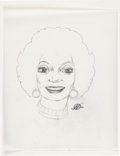 Original Comic Art:Sketches, Kelly Freas Star Trek's Lt. Uhura Sketch Original Art (c.1990s)....