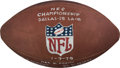 Football Collectibles:Uniforms, 1979 NFC Championship Game Dallas Cowboys vs. Los Angeles Rams Game Ball - Sourced from Referee!...