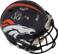 Football Collectibles:Helmets, 2014 Montee Ball Game Worn & Multi-Signed Denver Broncos Super Bowl XLVIII Helmet - Photo Matched!...