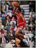 Basketball Collectibles:Photos, Mid 1980's Michael Jordan Signed Photograph Display....