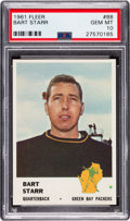 Football Cards:Singles (1960-1969), 1961 Fleer Bart Starr #88 PSA Gem Mint 10 - Pop One! The Ultimate PSA Example! ...